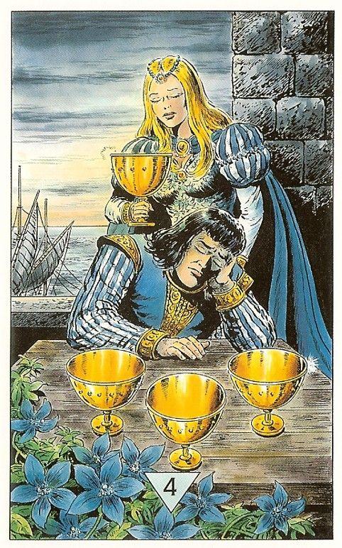Resultado de imagen para 4 of cups tarot