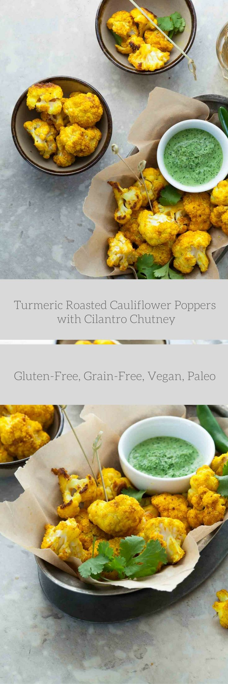 Turmeric roasted cauliflower served with cilantro chutney is an easy appetizer or side dish with lots of bright color and flavor. I should start by telling you that I've always loved cauliflower. …