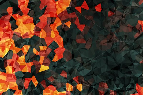 Colorful Polygonal Backgrounds by Charles Perrault Artworks on Creative Market