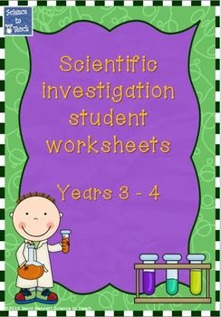 These customisable investigation worksheets are suitable for use with students in Years 3 and 4. The worksheets sections included are:Title - student writtenAim - student writtenMethod - cut and paste the order (teacher to customise with pictures or short sentences in the cut and paste boxes provided in PowerPoint format - Teacher inserts text box and types method in 6 or less steps or pastes picture into each of the boxes)Variable - student writtenHow to keep the test fair.