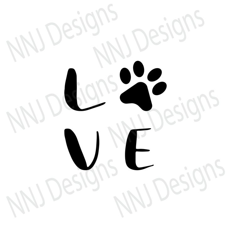 Download Love Dogs Paw Print SVG Pets Lover Clipart Silhouette ...