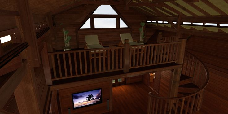 Kona Floor Plans: And loft access with a hardwood spiral staircase is a nice visual addition to the already attractive Great Room.
