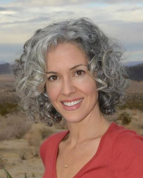 grey Curls For 60 Year Olds Women - Yahoo Image Search Results   Grey curly hair, Curly hair ...