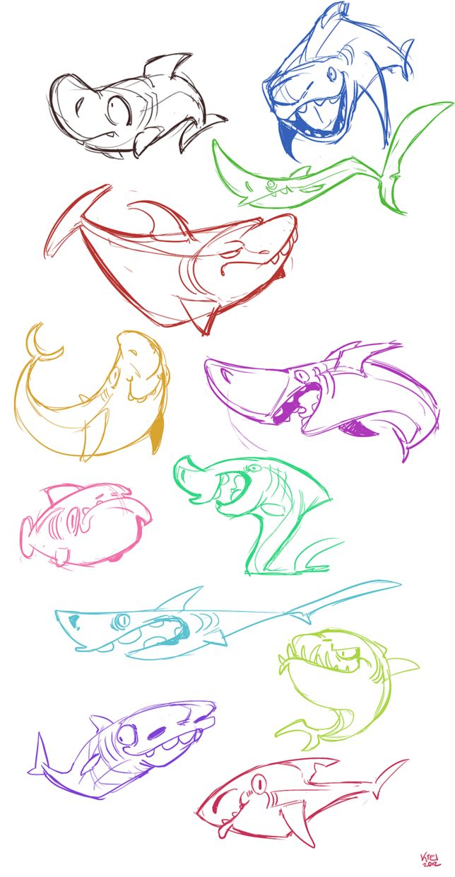 shark rainbow by ~fossilizer on deviantART