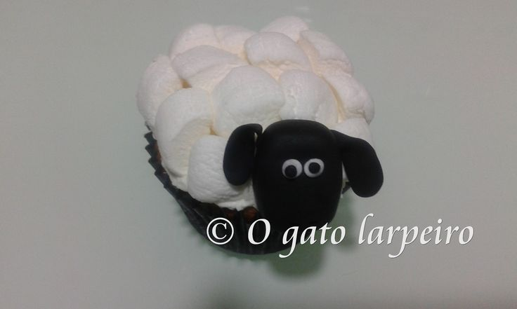 Cupcakes de la Oveja Shaun. Shaun the Sheep Cupcakes.
