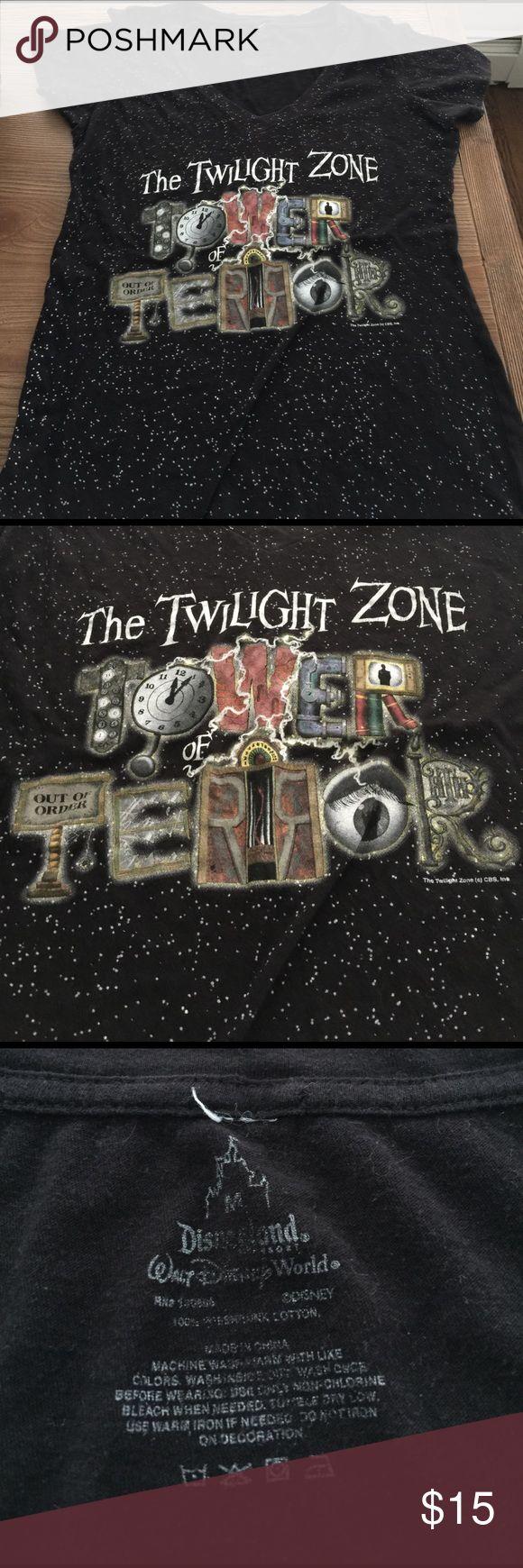 Tower of Terror tee Disneyland Tower of Terror souvenir  tee. Ride closed down permantly in Jan 17' Disney Tops Tees - Short Sleeve
