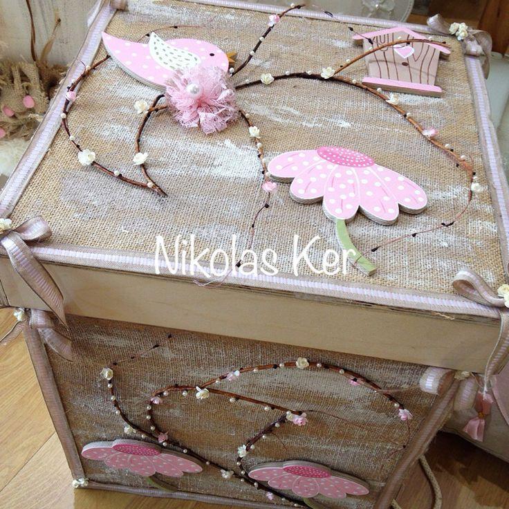 Ξύλινο κουτί βάπτισης handmade by Nikolas Ker! www.nikolas-ker.gr