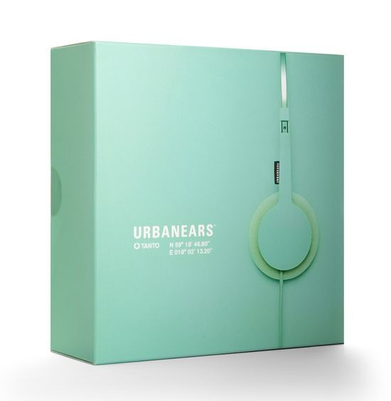 Urbanears  clean, high-end design, but still using bright, soft colouring in a market where black and white have become the most seen colours