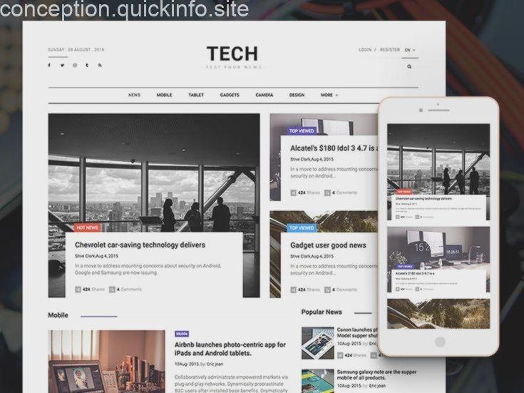 Technews Free Bootstrap Html5 Magazine Website Template Magazine Website Free Website Templates Html5 Website Template