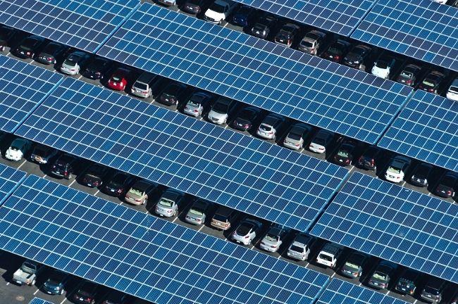 SunEdison solar parking canopies Solar, Solar panel
