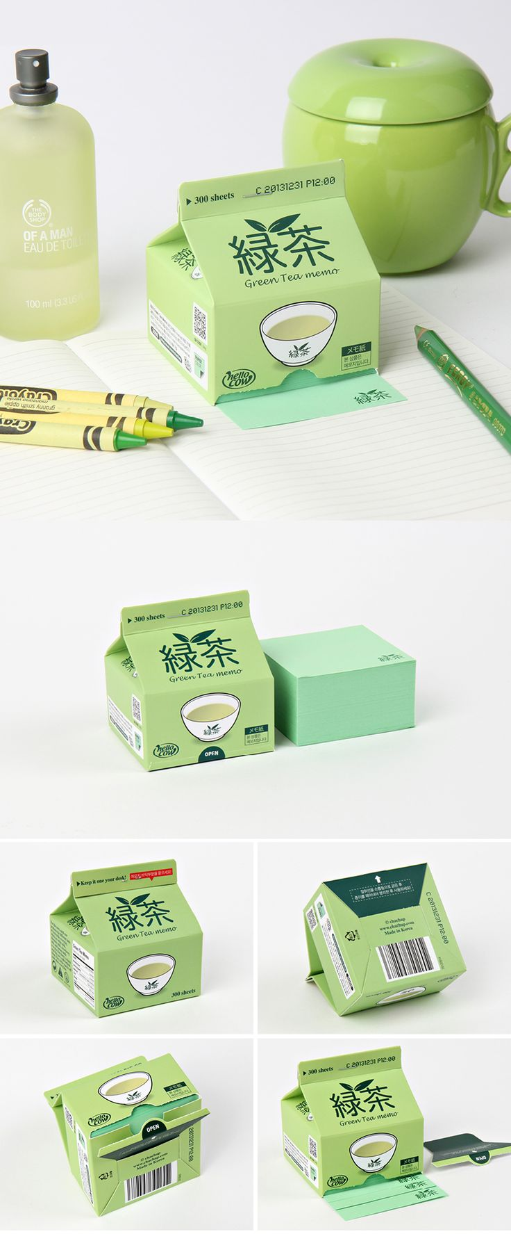 Take super adorable notes with this unique and portable green tea notepad. Comes with 300 pages of note paper! So many fun ways to take notes at http://www.mochithings.com/notes!
