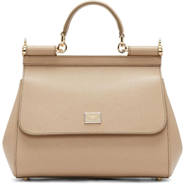 Dolce And Gabbana Beige Medium Miss Sicily Bag (10.355 HRK) ❤ liked on Polyvore featuring bags, handbags, shoulder bags, structured purse, dolce&gabbana, zipper handbag, studded handbags and dolce gabbana handbag