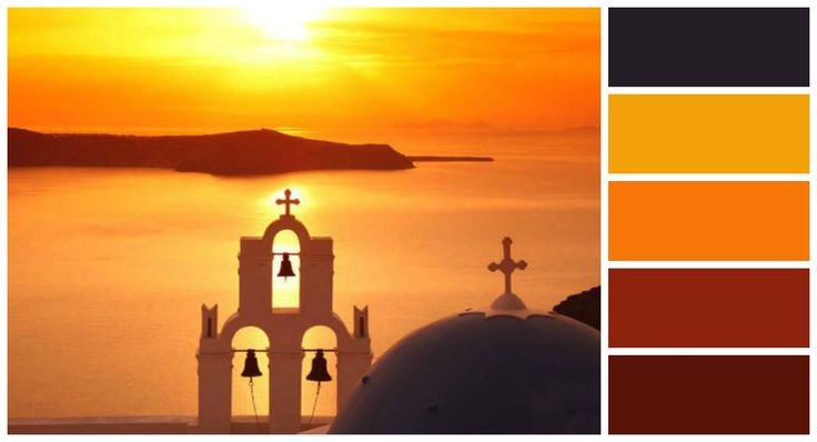 Magic Sunsets in Santorini, Greece A beautiful and colorful combination of nature by Andronis Exclusive.