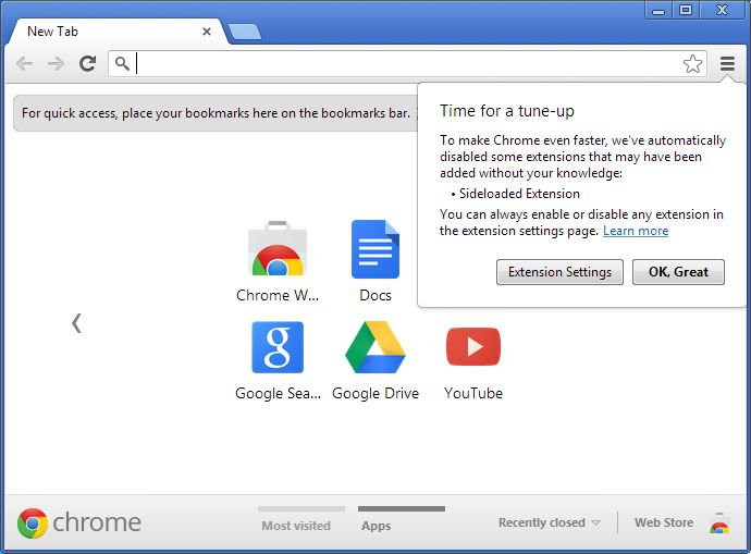 Just after 3 days launch of Chrome 24, Google on Monday announced the release of Chrome 25 beta with some new and advanced features including the blocking of silent extensions installation,