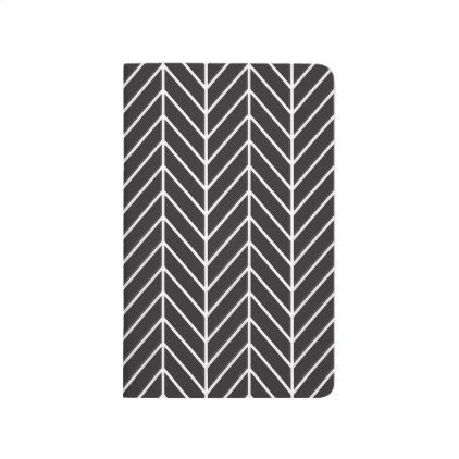 Black and White Chevron Pocket Notebook - black gifts unique cool diy customize personalize