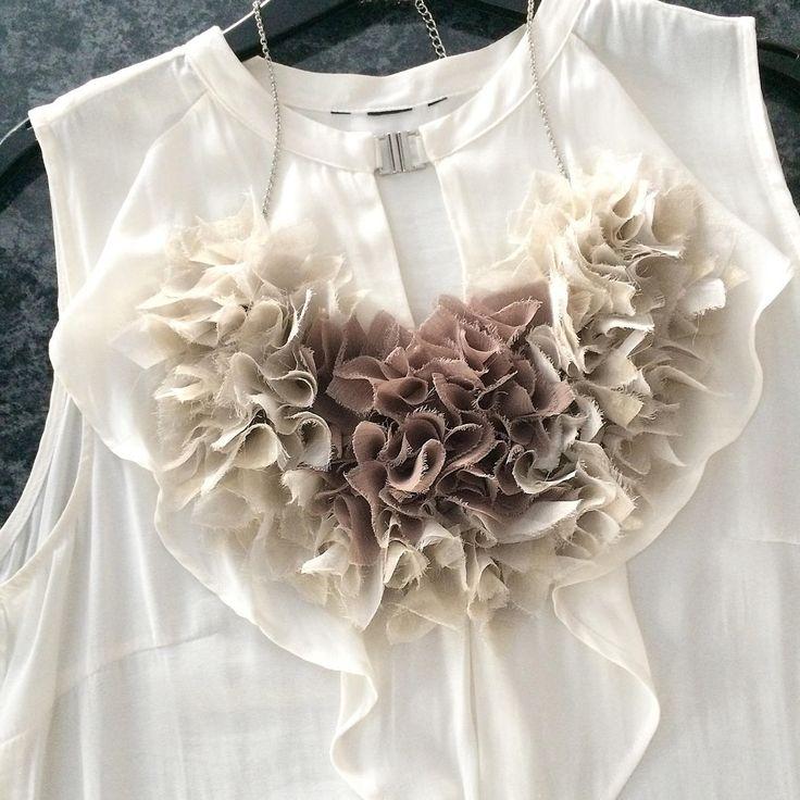Beige cream Ivory Bib Necklace, Vintage Antique, Handmade Sparkling Textile Fiber Art OOAK Necklace Collar by ShellenD on Etsy
