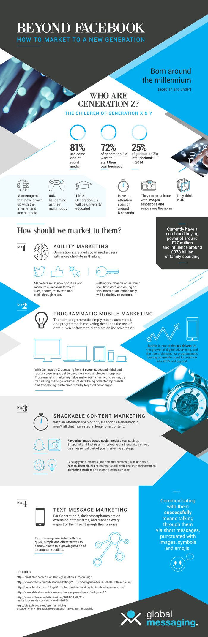 Beyond Facebook - Marketing To A New Generation - #infographic  Visit our website at www.firethorne.org! #creativeadvertising #advertisement #creative #ads #graphic #design #marketing #contentmarketing #content