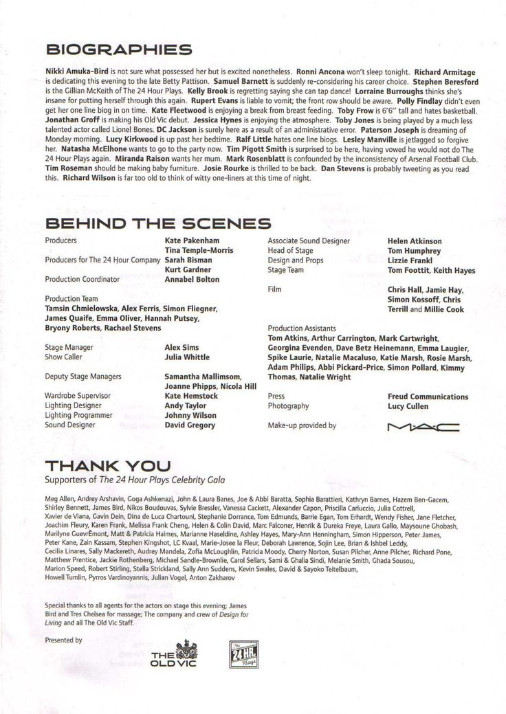 The Old Vicu0027s 24 hour plays gala Richard was in the play entitled - case worker resume sample