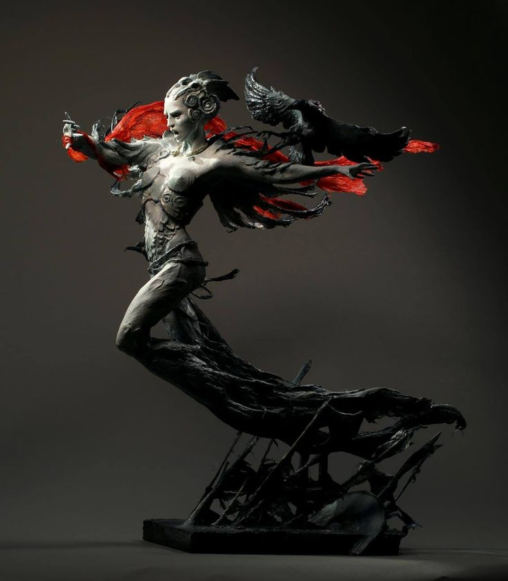 "Award winning sculpture ""The Morrigan"" by Forest Rogers"