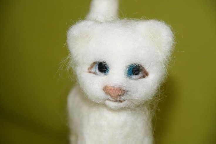 sweet Cat  needle felted miniature beautiful animal toys  handmade #1 #nutka_art #AllOccasion