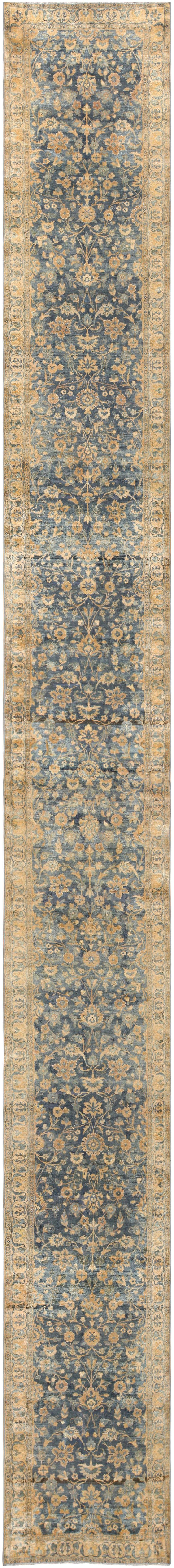 Learn more about our breathtaking Persian Kerman runner, which is available through Nazmiyal Antique Rugs, located in New York City.