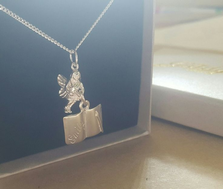 Pendant - BOOK FAIRY - Sterling Silver or 9ct Gold