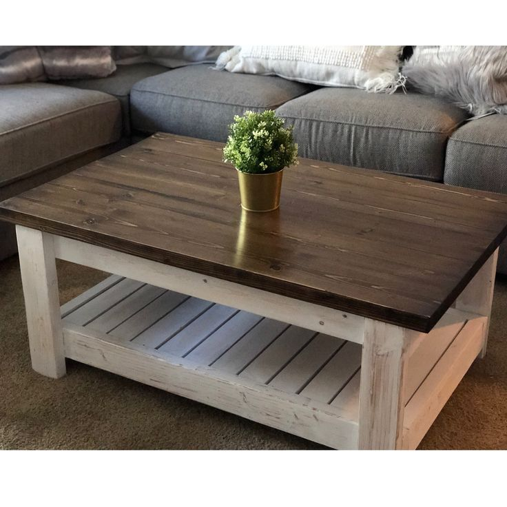 Distressed farmhouse coffee table 165 coffee table