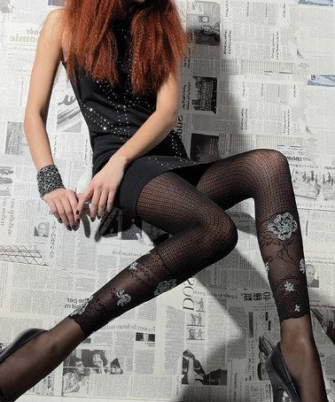 This Black Lilith Tights - Women by ORI is perfect! #zulilyfinds