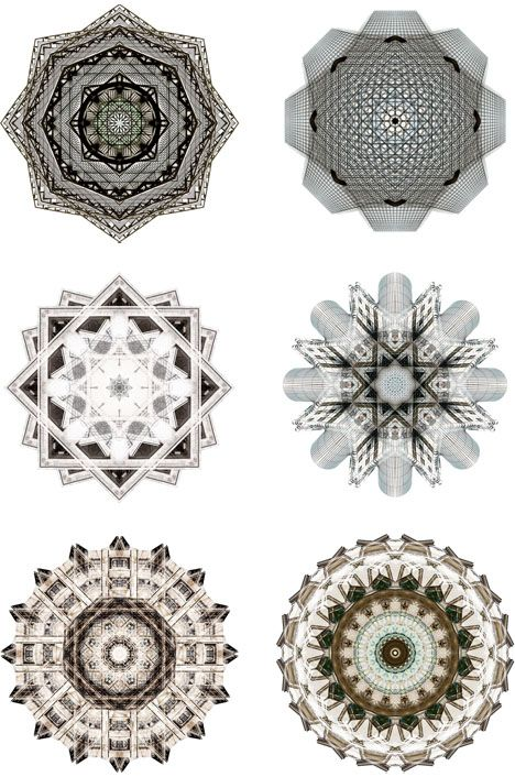 Architectural Kaleidoscopes: Buildings Spun into Fractal Art