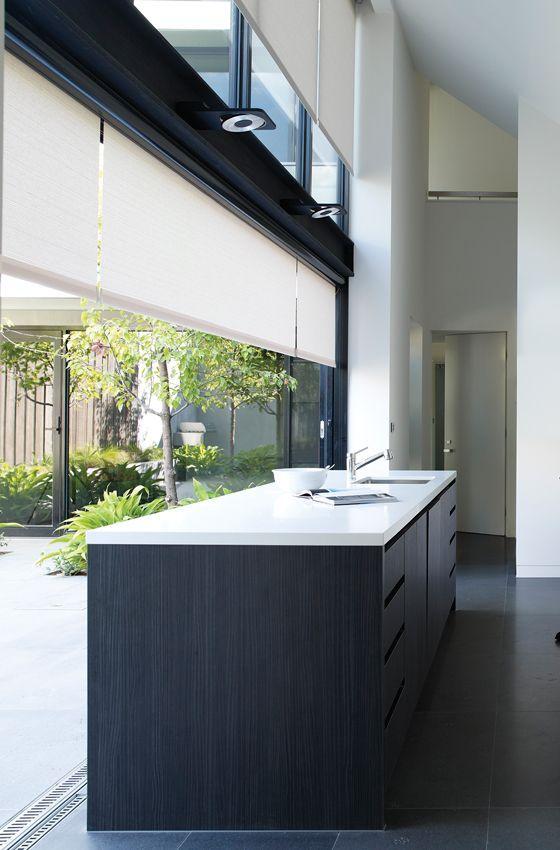 Contemporary Kitchen Window Treatments