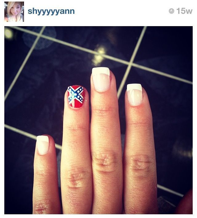 Rebel flag nails every nail should be the same! - Best 25+ Redneck Nails Ideas On Pinterest Camo Nail Art, Camo