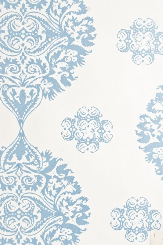 Alison Circles Wallpaper Hand Printed non woven wallpaper with ornate