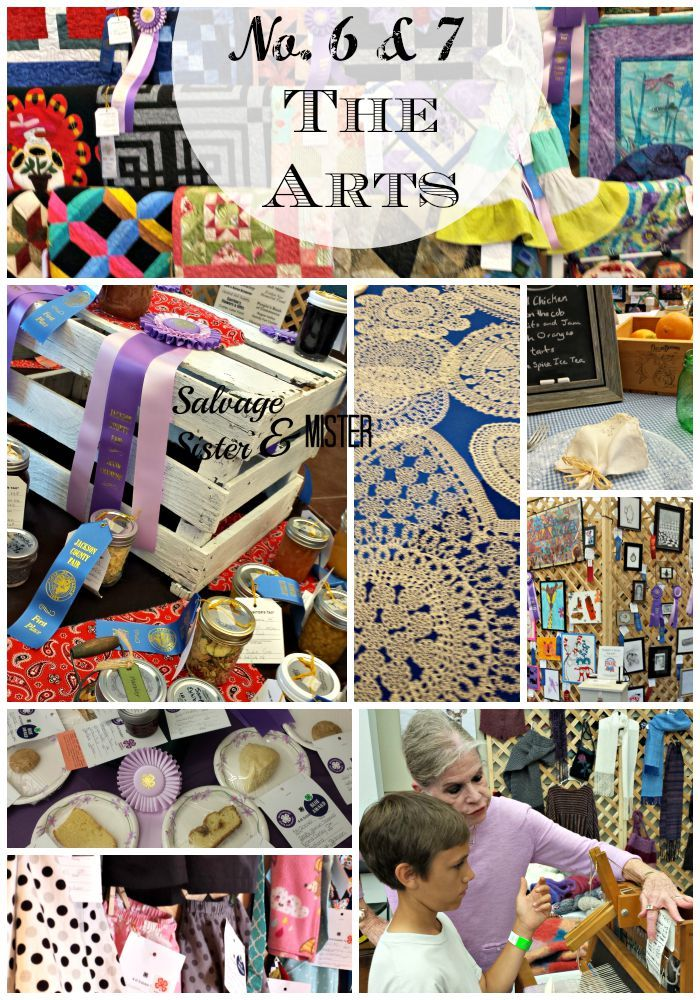9 reasons to go to your  county fair.  Just one of the reasons the arts and crafts.  Learn from experienced crafters.  Fun for all ages.  www.salvagesisterandmister.com
