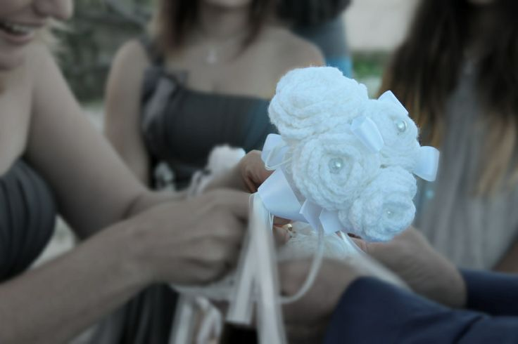 My wedding bouquet in action...