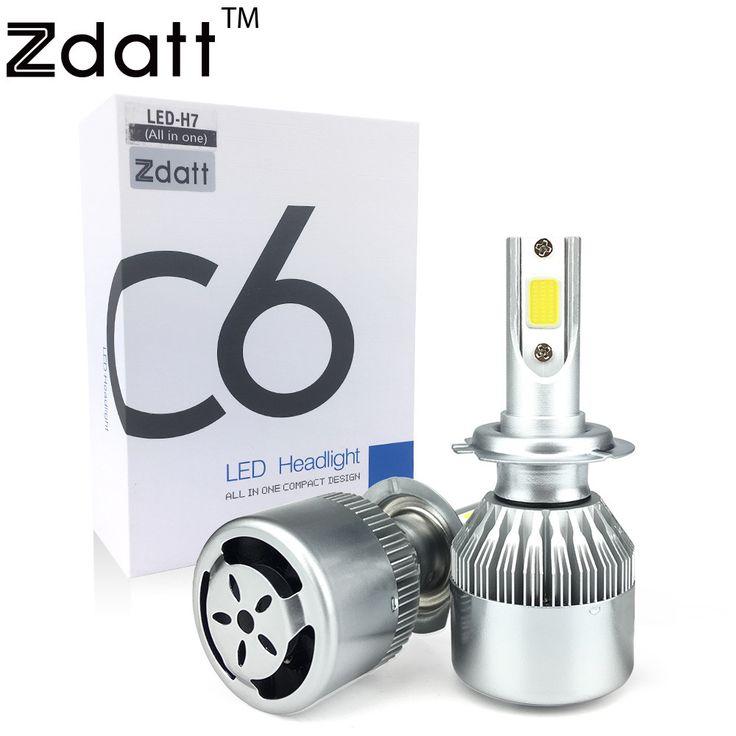 Cute Zdatt Pcs Super Bright H Led Bulb W Lm Headlights Auto Led Lamp With Fan Car