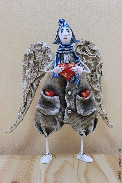 ангел с сердцем - ангел,новогодний подарок,новогодний сувенир,украшение для интерьера