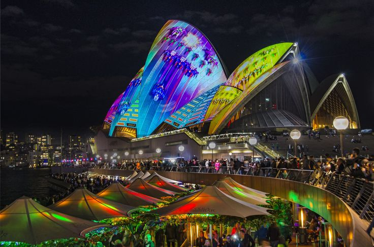 Vivid Sydney - is an outdoor annual cultural event featuring immersive light installations and projections.  For more information visit - http://www.guiddoo.com/
