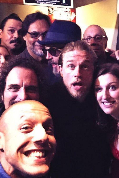 Theo Rossi/Twitter ~ The #HogsForHeart official #SOAFX selfie. #FinalRide