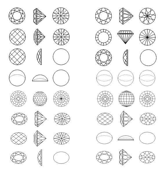 gem cut types g 233 om 233 trie gemstones search