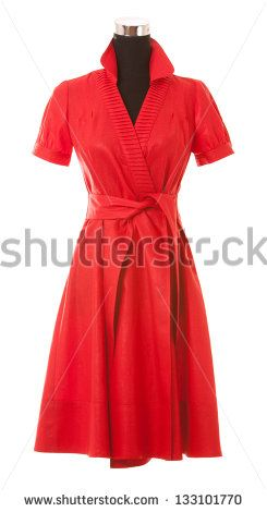 The isolation of a woman's dress on a white background - stock photo