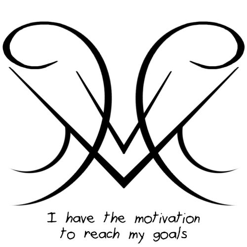 "Anonymous said: Anything for... motivation to reach my goals? Answer: ""I have the motivation to reach my goals"" sigil"