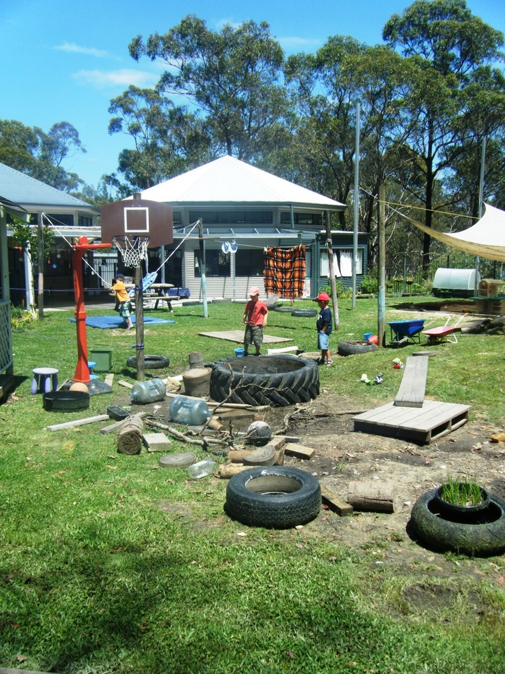 """Let the children play: a preschool playground of """"loose parts-I would like to add loose parts to our playground."""