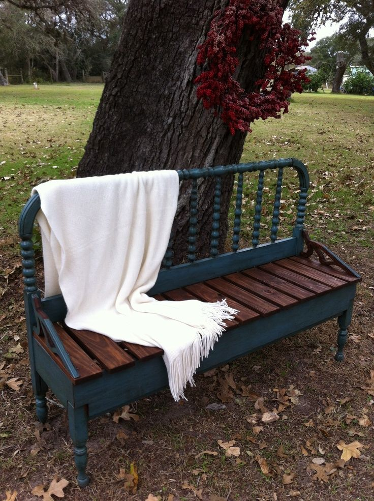46 Best Images About Benches Out Of Old Headboards On