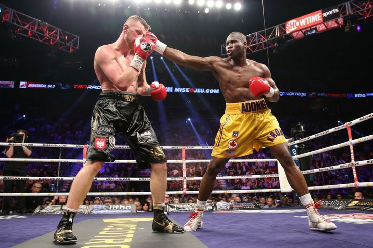 """Photo Credit: Stephanie Trapp / SHOWTIME  MONTREAL (May 25, 2014) – Adonis """"Superman"""" Stevenson (24-1, 20 KOs) successfully defended his WBC light heavyweight title for the third time Saturday night in a thrilling 12-round battle with world-ranked challenger Andrzej Fonfara (25-3, 15 KOs) on SHOWTIME CHAMPIONSHIP BOXING at the Bell"""