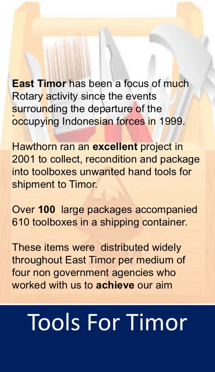 Great project for East Timor