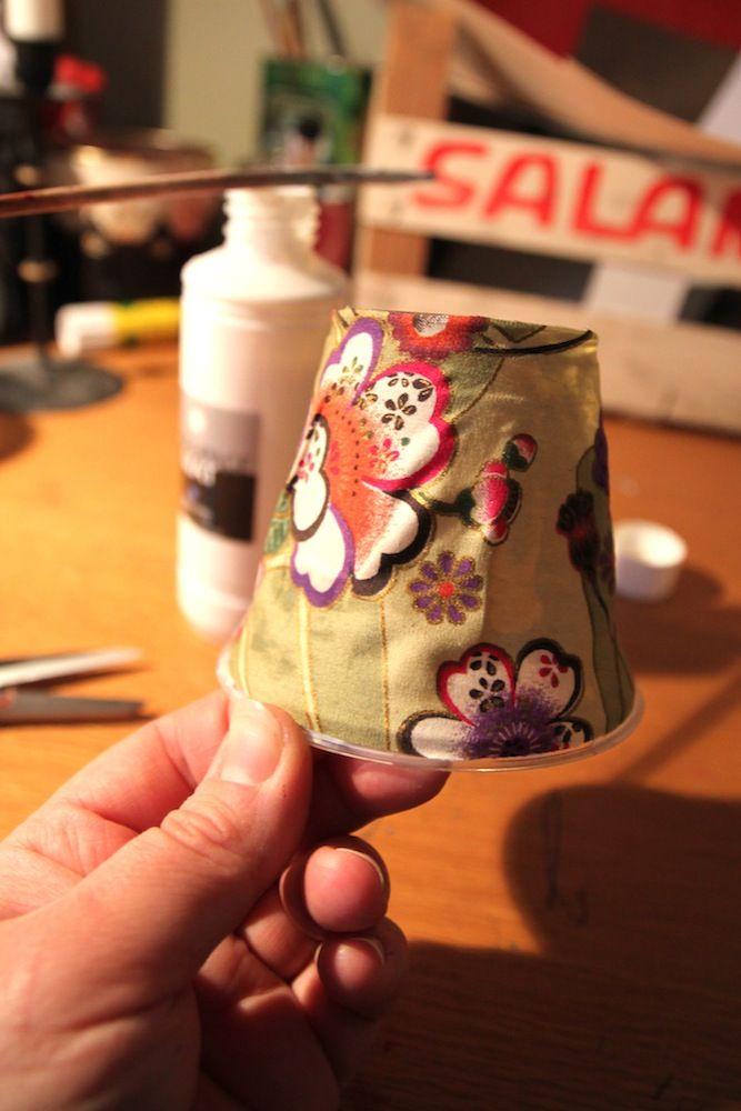 Rebeccas DIY: DIY: Ljusslinga med lampskärmar * Lamp shades on a string
