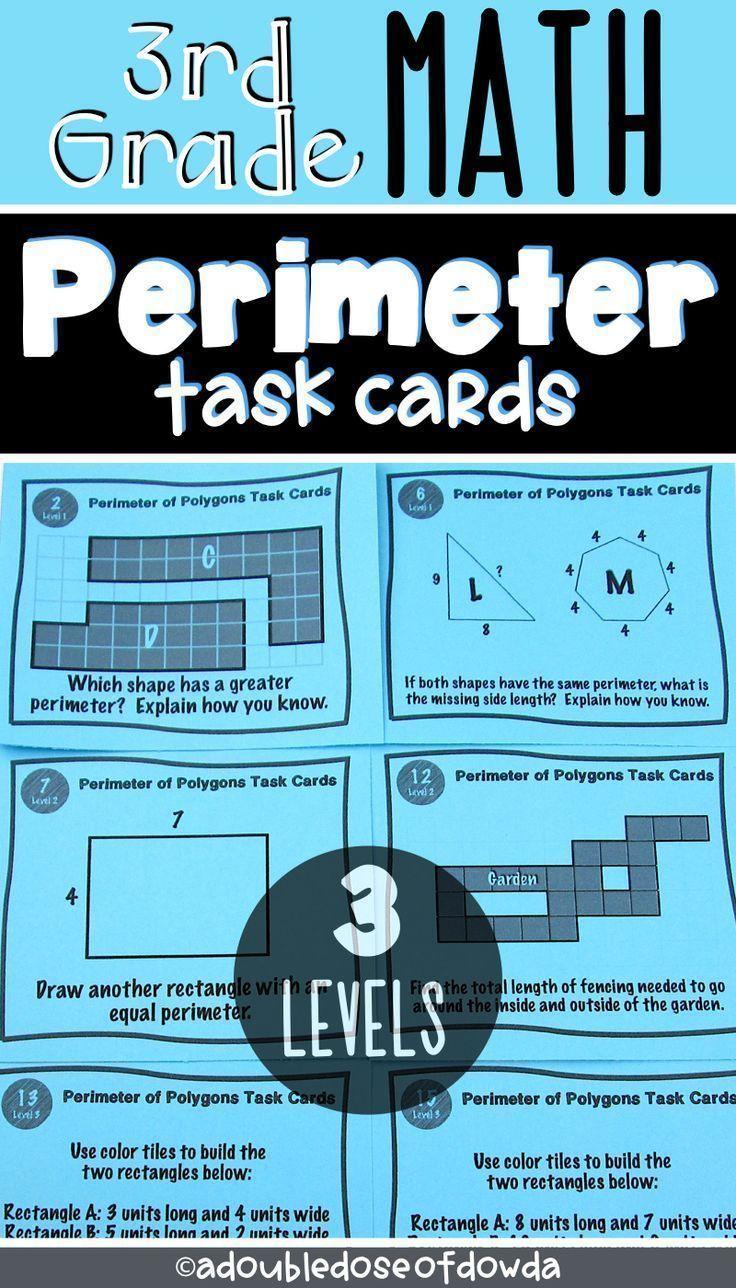 Perimeter of Polygons Task Cards   Task cards [ 1288 x 736 Pixel ]