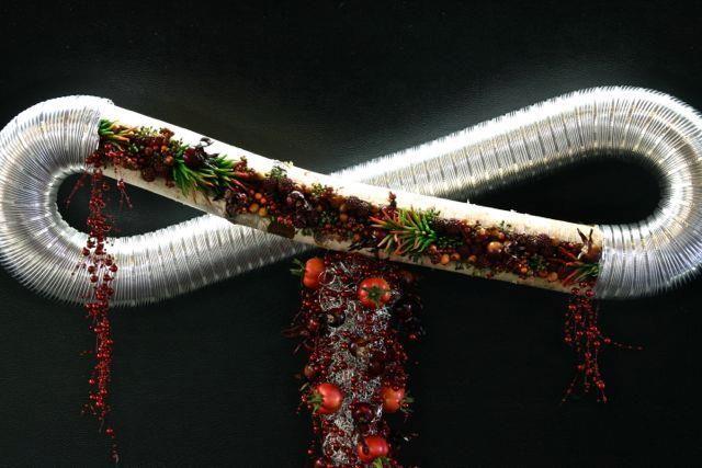¥10,000 白樺の木とダクトパイプを融合させたオブジェ