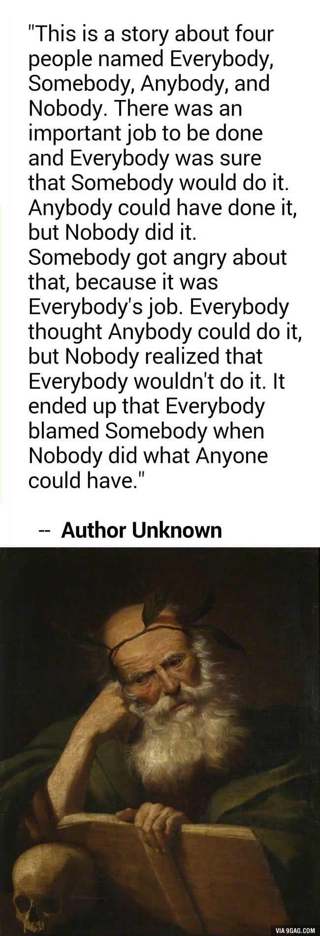 Very philosophical.