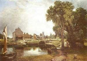 Dedham Lock and Mill, 1820  John Constable